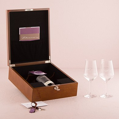 Wine goblets wedding stationery ceremony wording the for Love letter wedding ceremony