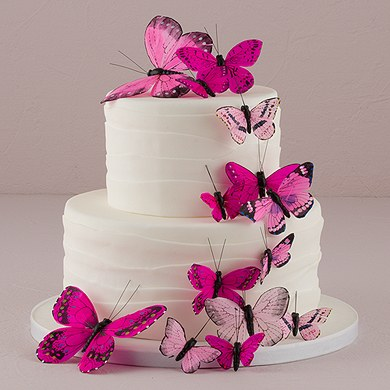 Butterfly Cake Decorations - Set of 24 - The Knot Shop