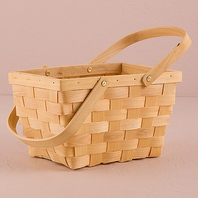 decorative baskets for wedding decor picnic basket large the knot shop 3445