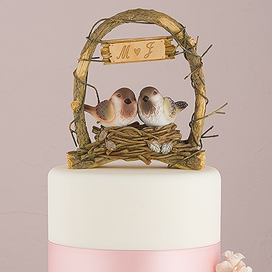 A Love Nest  Love Birds in Archway Cake Topper