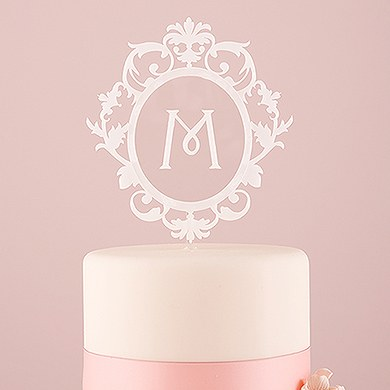 acrylic wedding cake toppers monogram classic floating monogram white acrylic cake topper the 10538