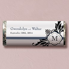 Lavish Monogram Nut Free Gourmet Milk Chocolate Bar