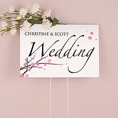 Cherry Blossom Wedding Sign