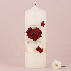 Flower of Love In Romantic Red Candles