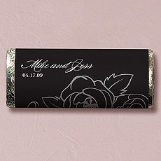 Black and White Botanical Gourmet Milk Chocolate Bar