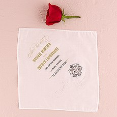 Parisian Save The Date Personalized Handkerchief
