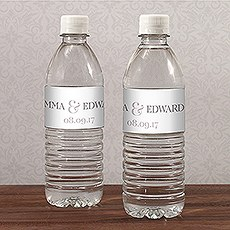 Wedding Water Bottle Labels, Custom Water Bottle Labels - The Knot ...