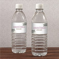 Natural Charm Water Bottle Label