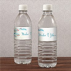 Feather Whimsy Water Bottle Label