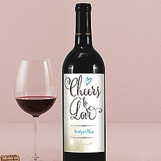 Feather Whimsy Wine Label