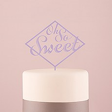 Oh So Sweet Acrylic Cake Topper - Lavender