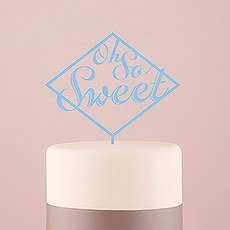 Oh So Sweet Acrylic Cake Topper - Pastel Blue