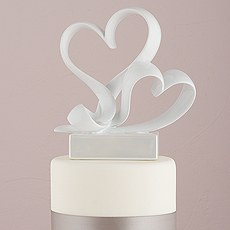 """Love Link"" Stylized Heart Cake Topper"