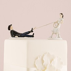 Funny Wedding Cake Toppers In Porcelain The Knot Shop