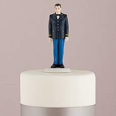 Military Groom in U.S. Army Dress Uniform Figurine