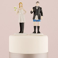 "Bride ""In Charge"" and Groom ""Not In Charge"" Cake Toppers"
