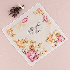 """Tea Rose Print Handkerchief for the """"Mothers"""""""