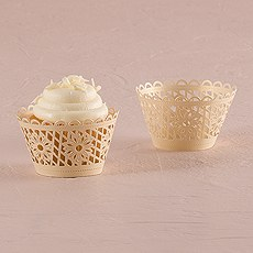 Floral Art Deco Filigree Paper Cupcake Wrappers (12)