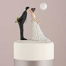 Leaning in for a Kiss - Balloon Wedding Cake Topper