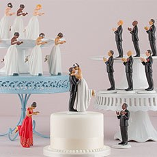 Interchangeable True Romance Bride And Groom Cake Toppers