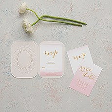 Embossed Pearls and Lace with Aqueous Personalisation - Accessory Cards