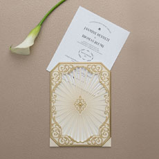 Art Deco Laser Embossed Invitations with Personalization