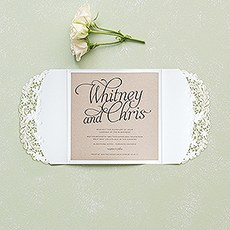 Embossed Floral Elegance with Rustic Elegance Personalization - Invitation