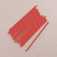 """Sippers"" Small White Polka Dot Paper Straws (75)"