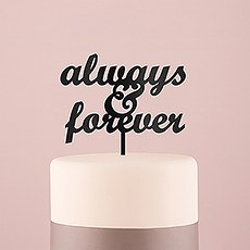 Always & Forever Acrylic Cake Topper - Black