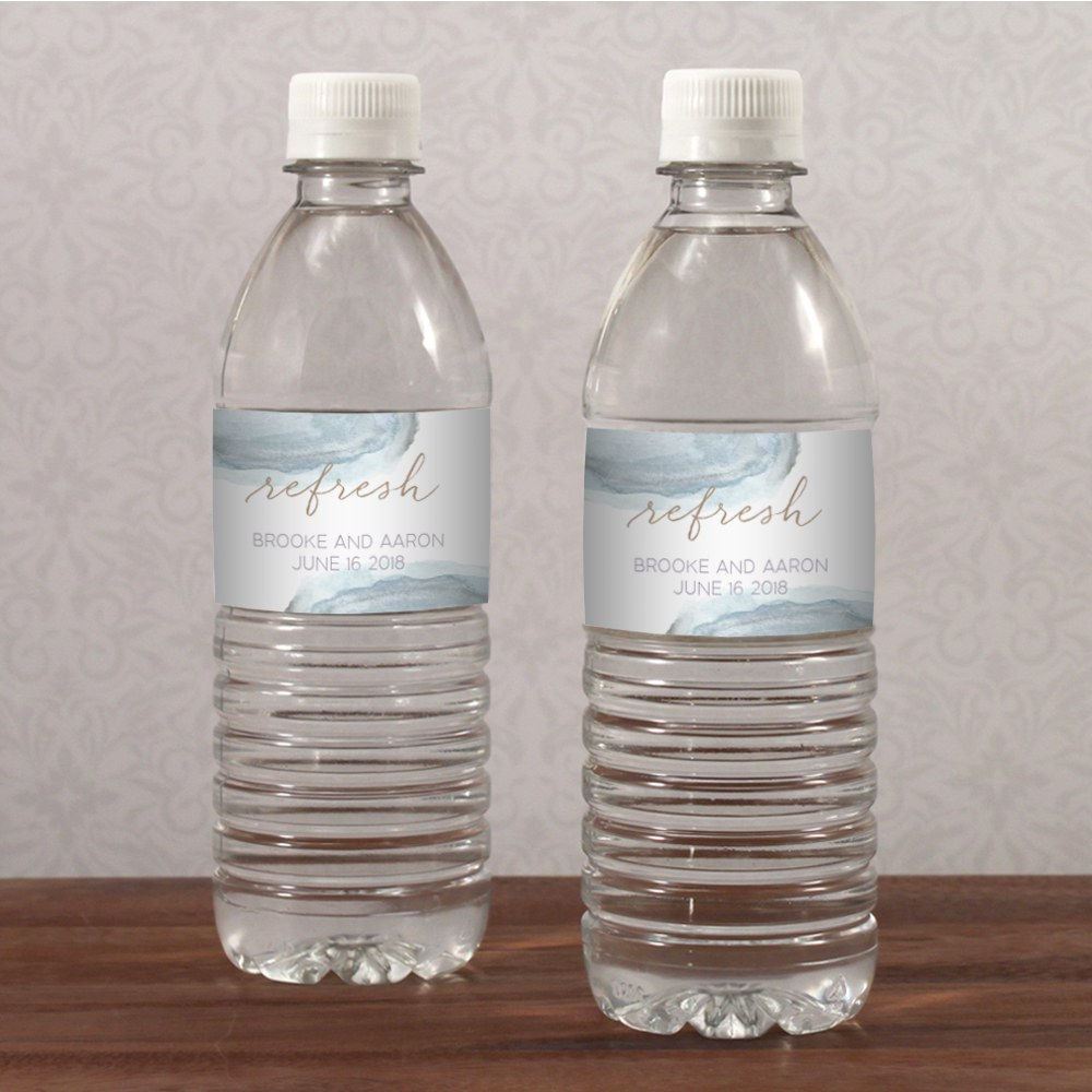 Agate Allure Water Bottle Label