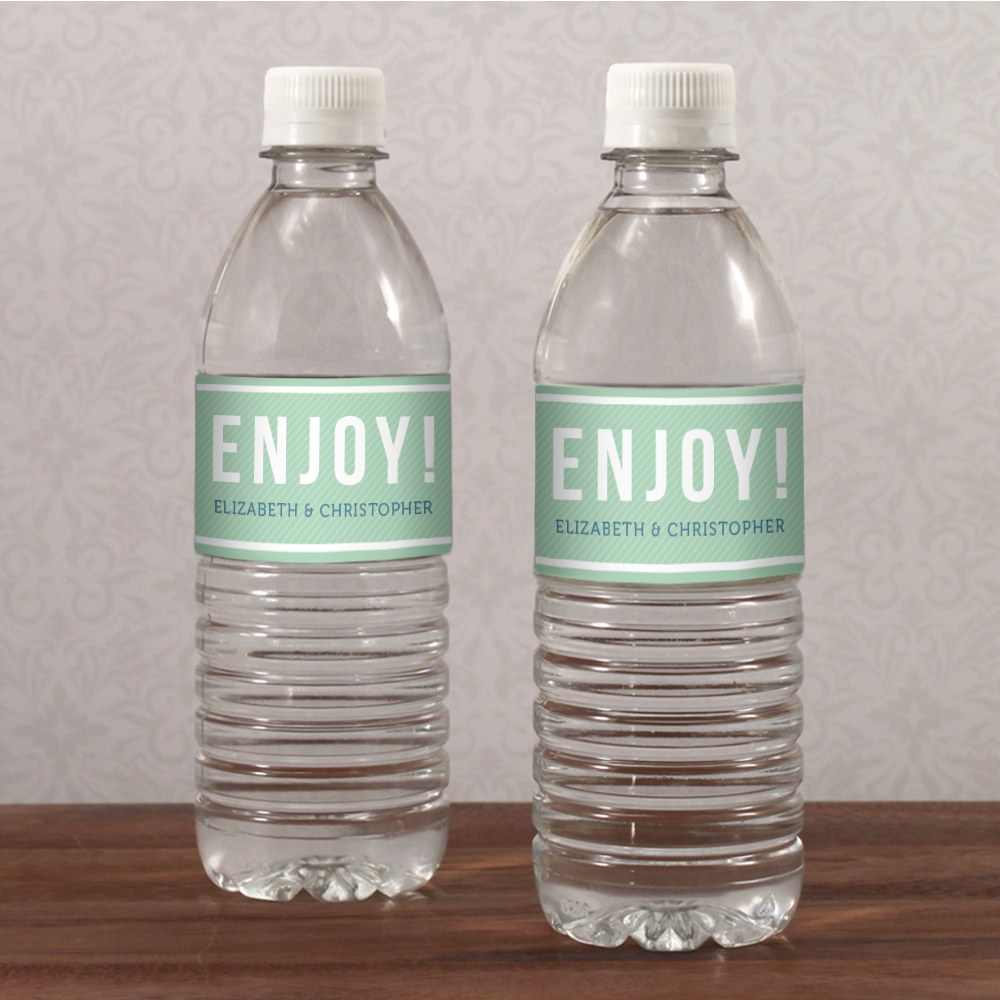 Smart Type Water Bottle Label