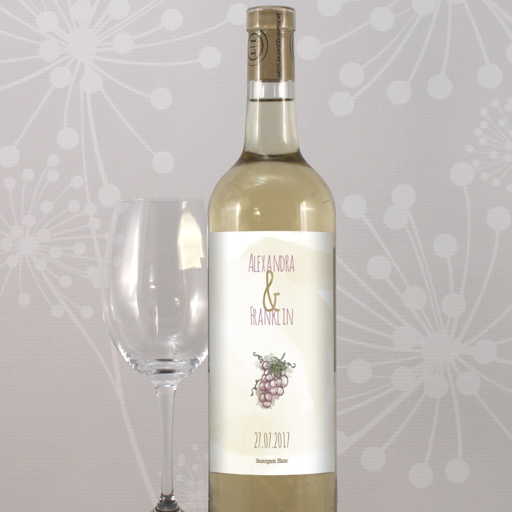Natural Charm Grapes Wine Label