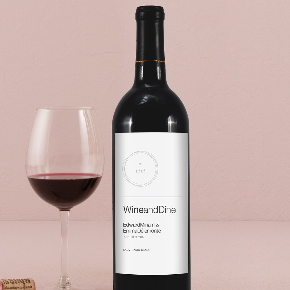 Monogram Simplicity Wine Label   Modern