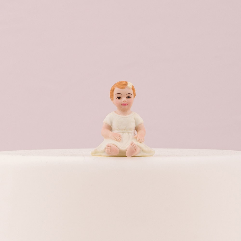 Baby Girl Porcelain Figurine Wedding Cake Topper