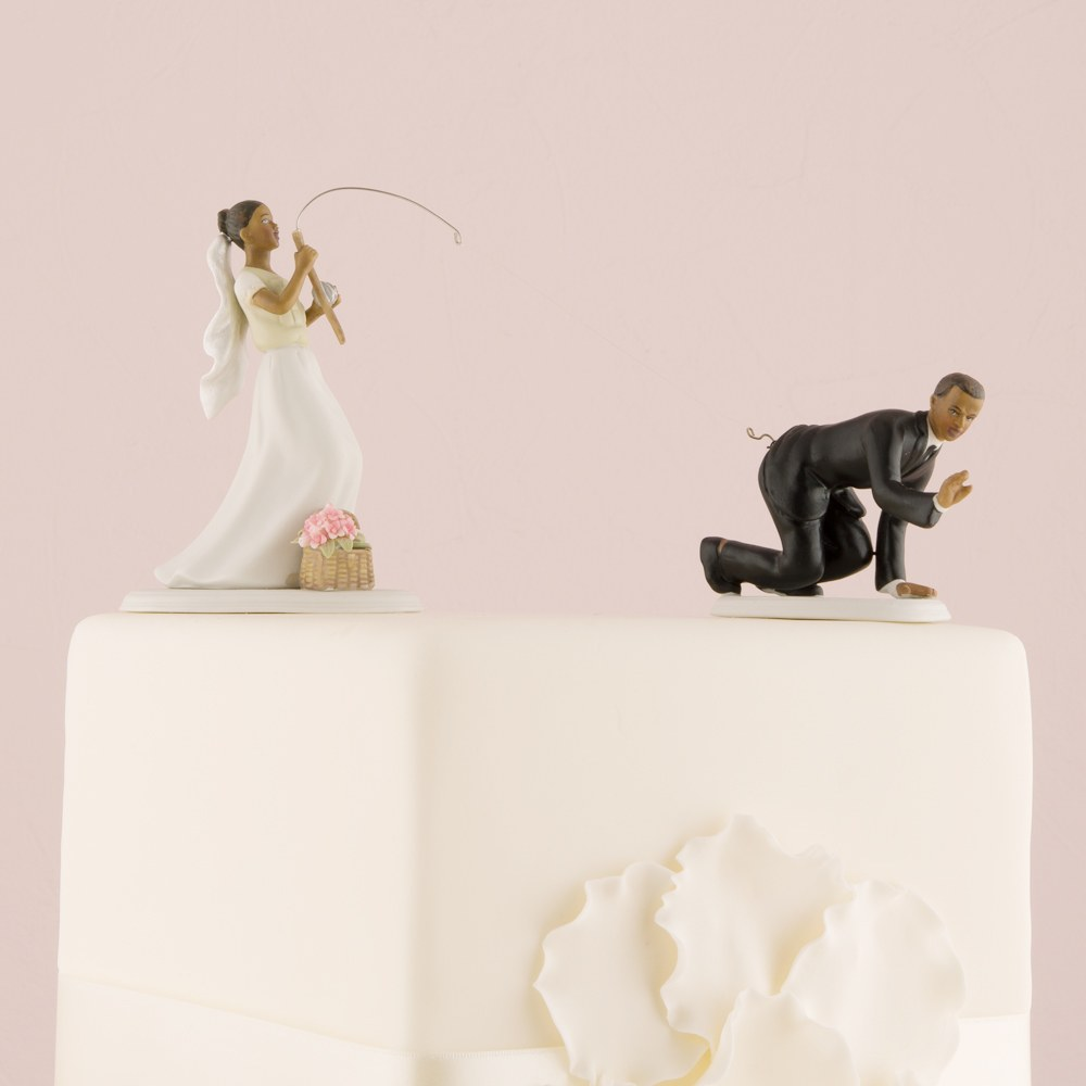 Gone Fishing Wedding Cake Topper