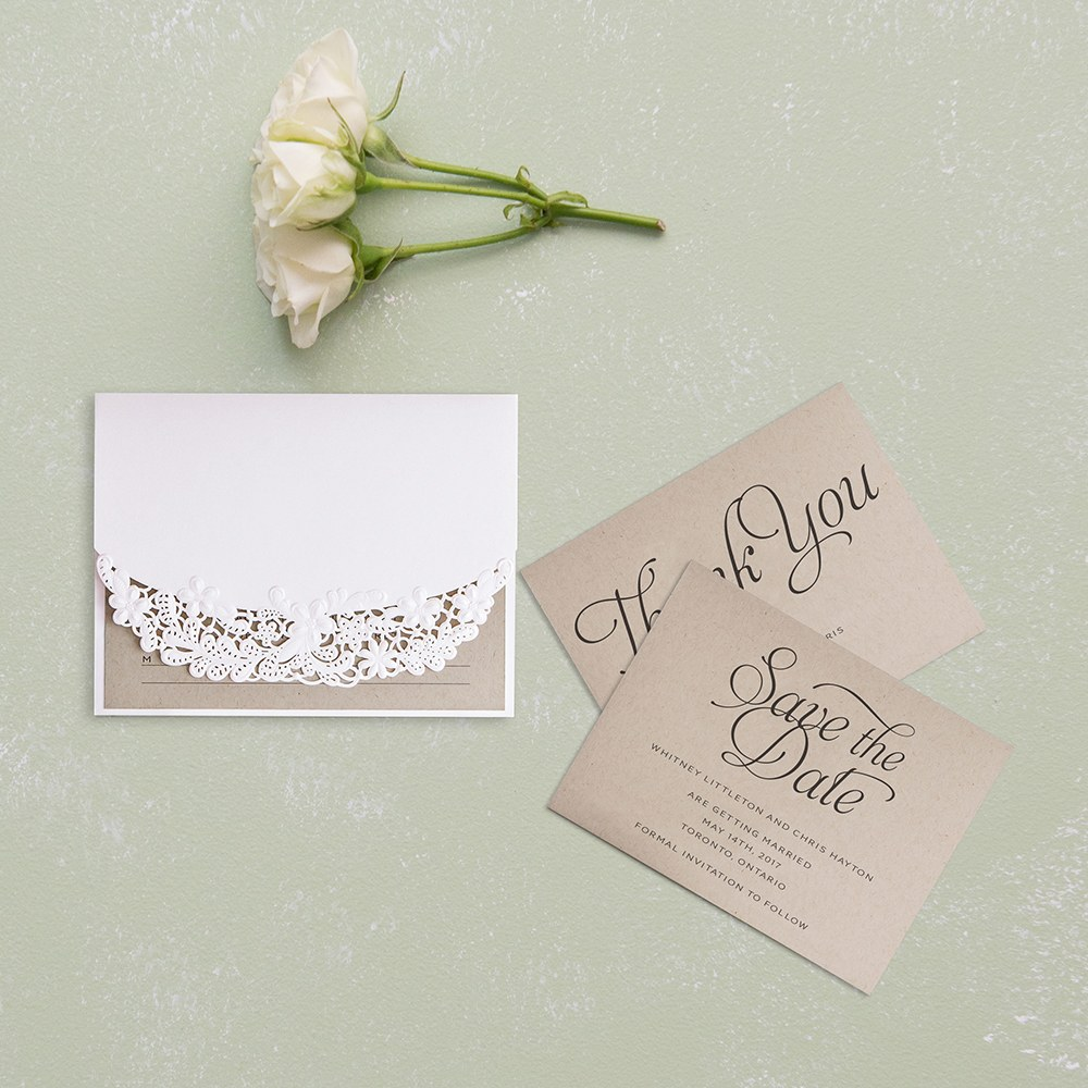 Embossed Floral Elegance with Rustic Elegance Personalization   Accessory Cards