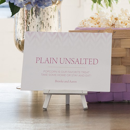 Ikat Large Card Open Format Table Sign