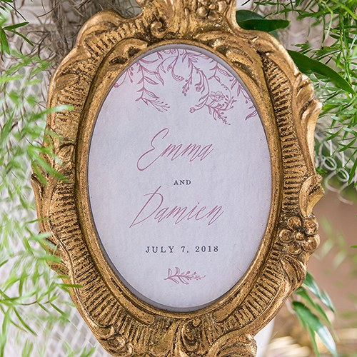 Modern Fairy Tale Oval Photo Frame Cling   Names