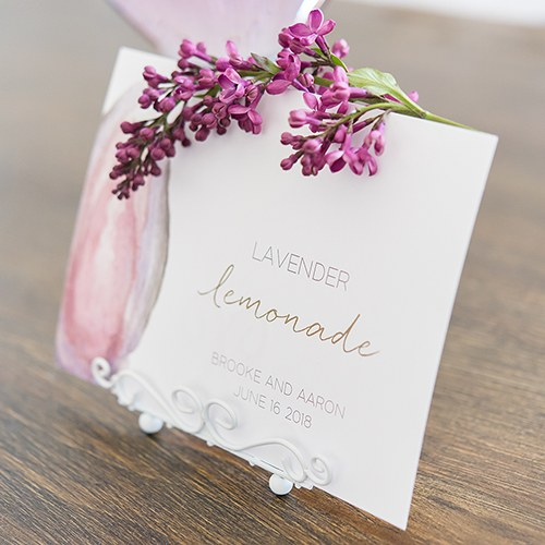 Agate Allure Large Card Table Signage