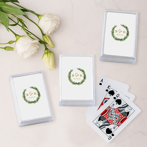 Unique Custom Playing Card Favors - Love Wreath