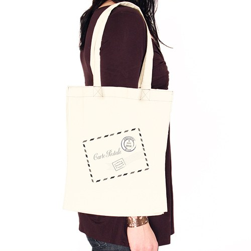 French Post Card Personalized Tote bag