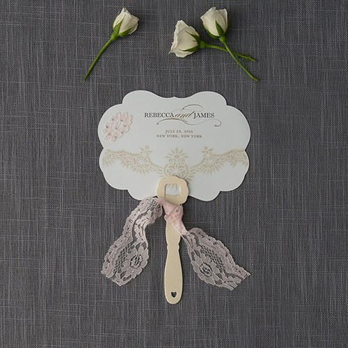 Vintage Lace Hand Fan Wedding Favor