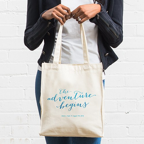 Aqueous Personalized 100 per cent Cotton Twill Tote Bag