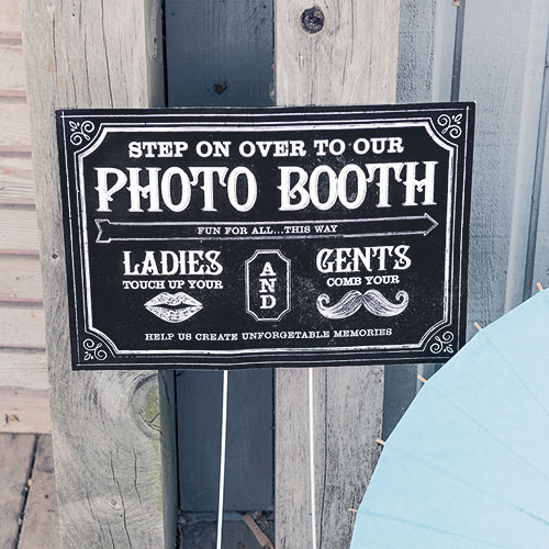 Personalized Directional Signage With Chalkboard Print Design
