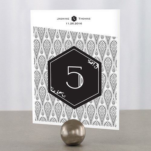 Black and Gold Opulence Table Numbers