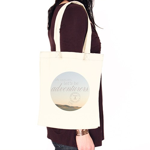 Wanderlust Oh Darling  Let's Be Adventurers Personalized Tote Bag