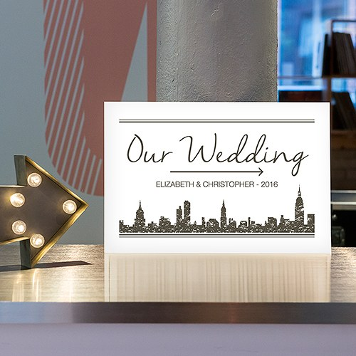City Style Directional Poster Sign