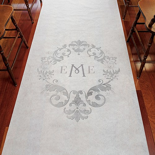 Monogram Simplicity Personalized Aisle Runner