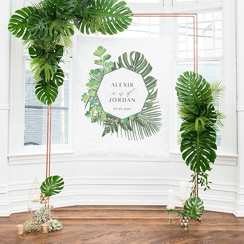 Greenery Small Personalized Photo Backdrop / Sign