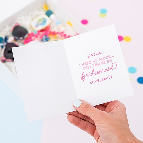 Summer Vibes Bridesmaid Card with Fold